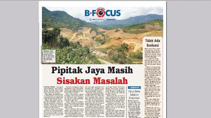 Pembangunan Bendungan Tapin Sudah 87 Persen, Uang Ganti Rugi Sudah Dicairkan Awal Juli 2019