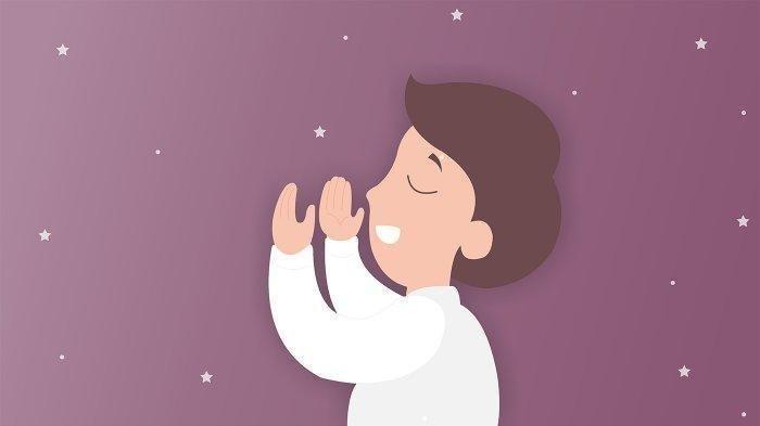 Ilustrasi berdoa, membaca Surat Yasin.