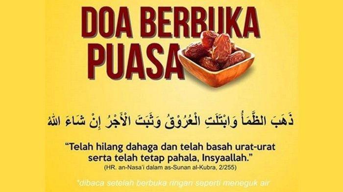 Doa Buka Puasa Ramadhan, Simak Amalan Rasulullah Saat Berbuka Puasa Pas untuk Ramadhan 1440 H
