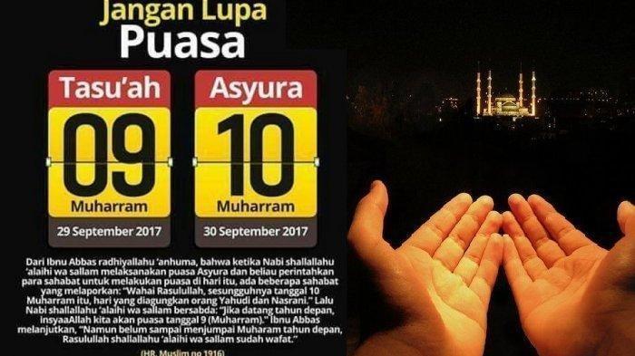 Mulai Senin (9/9/2019)! Bacaan Niat Puasa Tasu'a dan Puasa Asyura di Bulan Muharram 1441 Hijriah