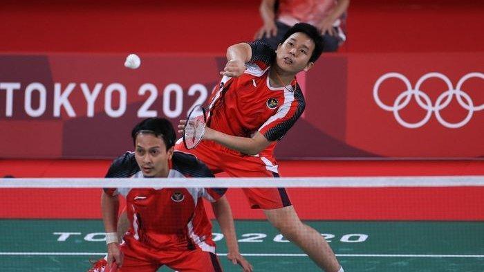 Live TV TVRI & Indosiar! Link Streaming Online Badminton Olimpiade Tokyo Hari Ini, Ahsan/Hendra Main