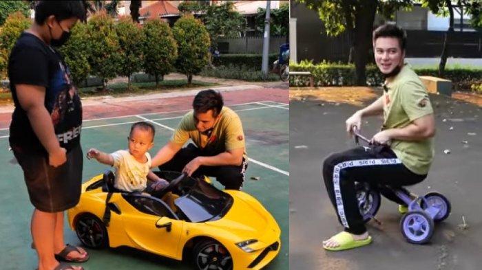 Kejahilan Baim Wong Bawa Kabur Mainan Alfi Bikin Panik, Mobil dan Motor Anak Jadi Hadiah