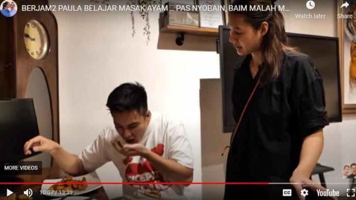 Insiden Baim Wong Muntah Saat Cicipi Masakan Paula Terekam, Ayah Kiano Beri Penilaian