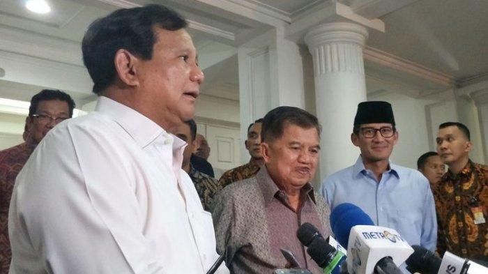 Jusuf Kalla Ajukan Pertanyaan Ini ke Prabowo Setelah Saat Bertemu Usai Kerusuhan 21-22 Mei 2019