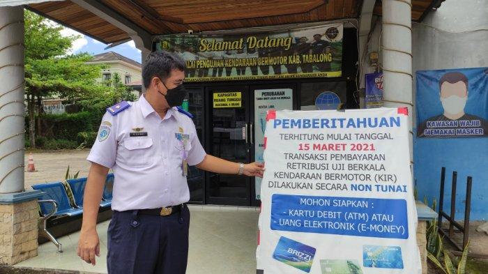 Balai Pengujian Kendaraan Bermotor Dishub Tabalong Terapkan Pembayaran Non Tunai