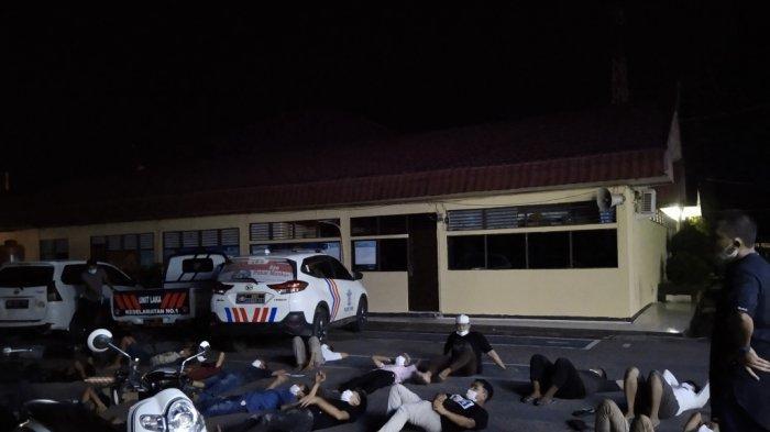 Balapan Liar di Kalsel, Puluhan Remaja dan Anak Kecil Diamankan Satlantas Polres Tapin