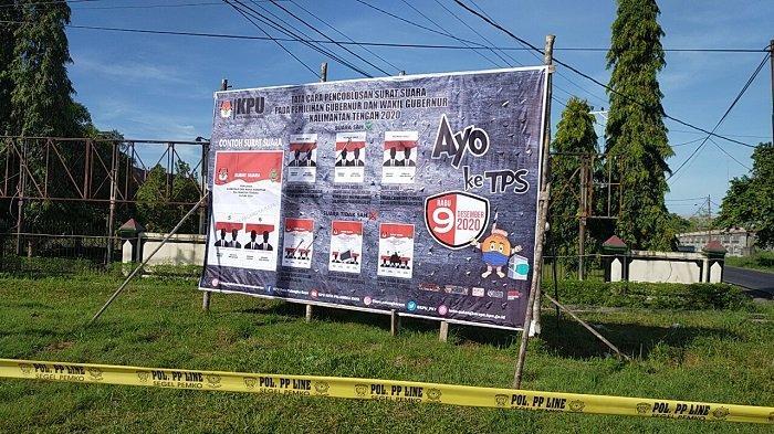 Jelang Pencoblosan, Imbauan untuk Datang ke TPS Terpasang di Palangkaraya