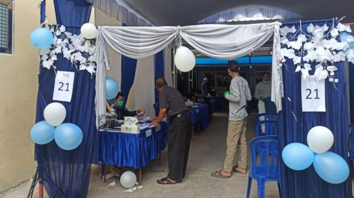 PSU Pilwali Banjarmasin, Bak Hajatan TPS 21 di Basirih Selatan Diias Balon dan Bunga