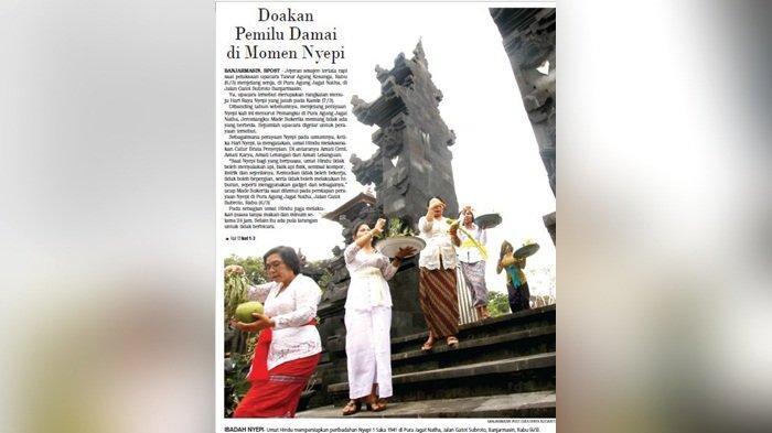 Doakan Pemilu Damai di Momen Nyepi di Pura Agung Jagat Natha Banjarmasin