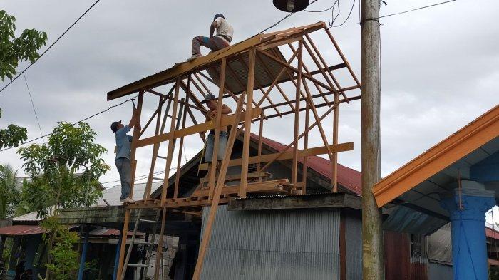 Banjir Kalsel, Warga Barabai Kabupaten HST Ramai-ramai Bangun Loteng