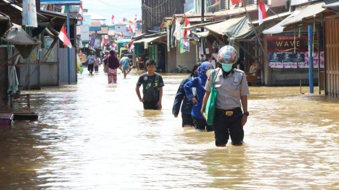 Banjir Kalteng, Seribu Rumah Warga KatinganTerendam Banjir, Ketinggian Air Capai Satu Meter