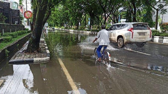 Hujan Deras Minggu Dinihari, Sejumlah Titik di Banjarmasin Terendam