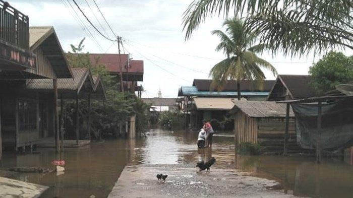Banjir Kalsel, Kepala Desa Sinar Bulan Bersyukur Tak Ada Rumah Warga yang Terendam