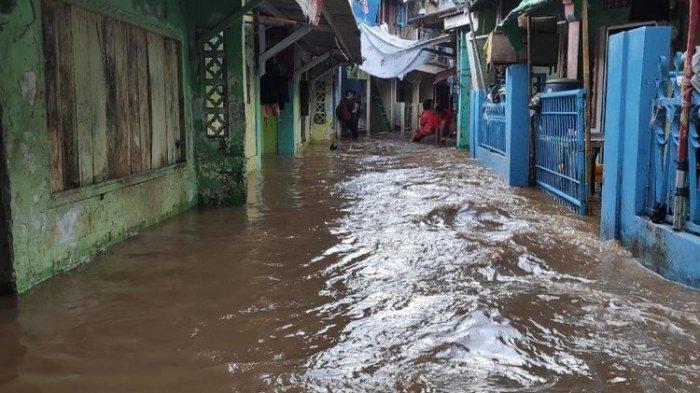 DKI Jakarta Banjir Lagi, Banjir Lagi, Hujan Deras Bentar Sabtu Dini Hari 10 RT Terendam