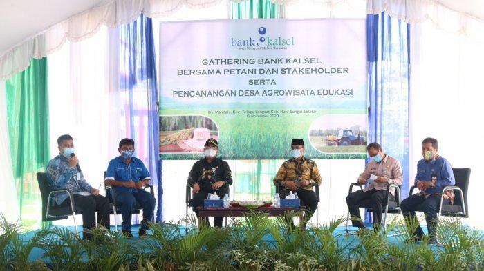 Berkomitmen Dukung Petani, Bank Kalsel Edukasi Pengelolaan Uang dan Kebutuhan Permodalan Petani HSS