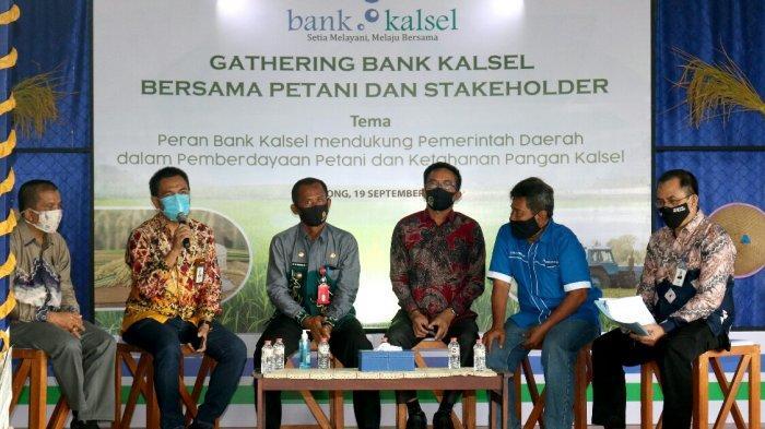 Bank Kalsel gelar gathering bersama petani dan stakeholder di Balai Desa Karang Rejo, Kecamatan Jorong, Kabupaten Tala, Sabtu (19/9/2020)
