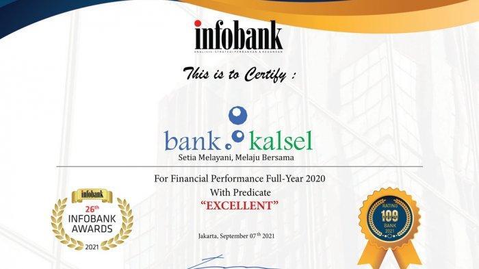 Bank Kalsel Kembali Ukir Prestasi di Infobank Awards 2021