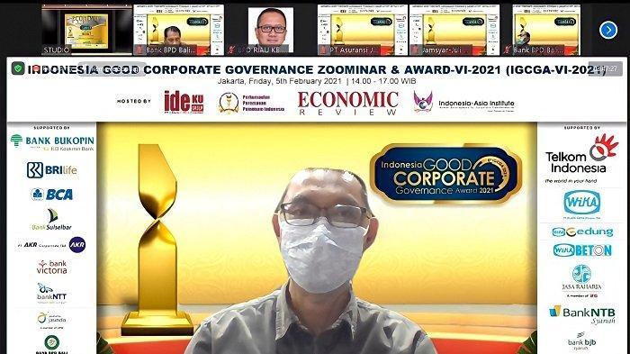 Bank Kalsel Raih Indonesia Good Corporate Governance Award 2021