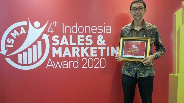 Bank Kalsel Sabet Penghargaan 7th THE BEST Indonesian Sales Marketing Award IV 2020