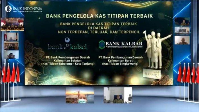 Bank Kalsel Sabet Penghargaan Pengelola Kas Titipan Terbaik dari Bank Indonesia