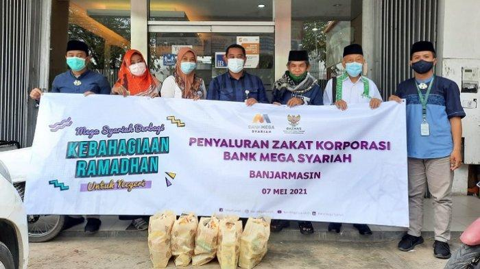 Salurkan Zakat PT CT Corp, Bank Mega Syariah Gandeng BAZNAS Kalsel