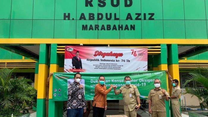 Adaro Bantu Konsentrator Oksigen untuk RSUD H Abdul Aziz Marabahan