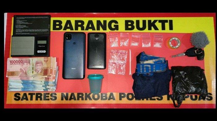 Narkoba Kalteng, Pengantar Sabu dan Calon Pembelinya Digiring ke Polres Kapuas