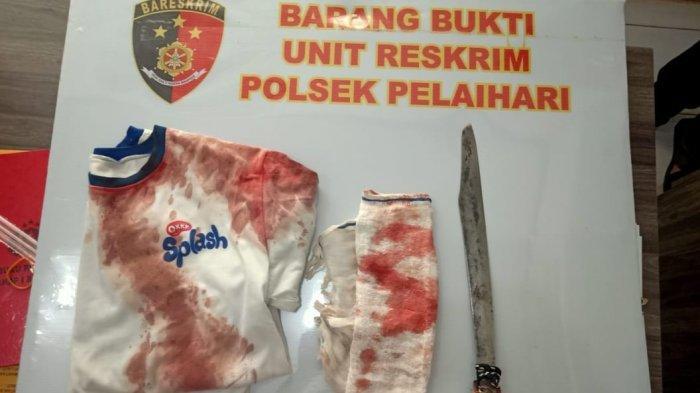 BARANG bukti yang diamankan petugas Polsek Pelaihari.