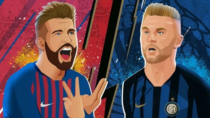 LINK SCTV! Link Live Streaming Inter Milan vs Barcelona di TV Online Liga Champion, Messi Absen