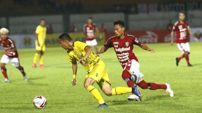 Barito Putera menelan kekalahan 1-2 dari Bali United