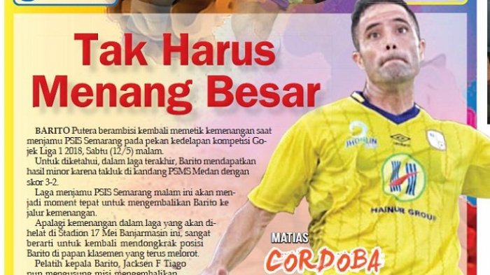 Live Streaming Vidio.com, Barito Putera vs PSIS Semarang, Jacksen Ingatkan Tak Harus Menang Besar