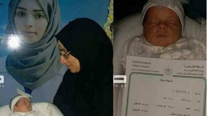 Seorang Bayi Palestina Baru Lahir Dinamai Razan Najjar, Warganet Sebut Kehormatan yang Harus Dijaga