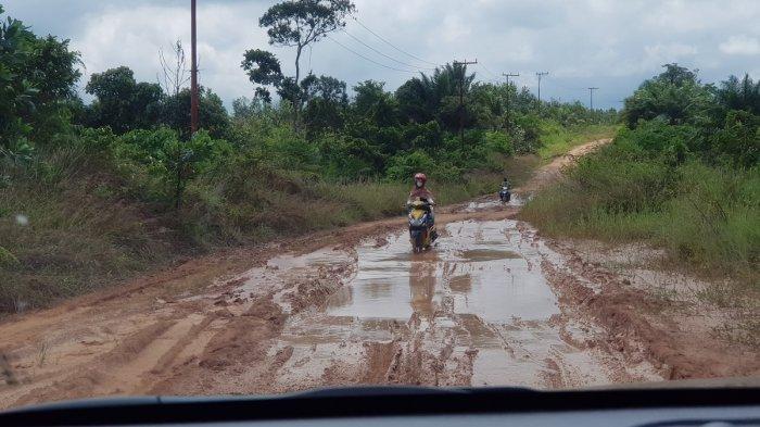 Wisata Kalsel - Jalan Menuju Sungai Alam Riamadungan Tala Perlu Penanganan Serius