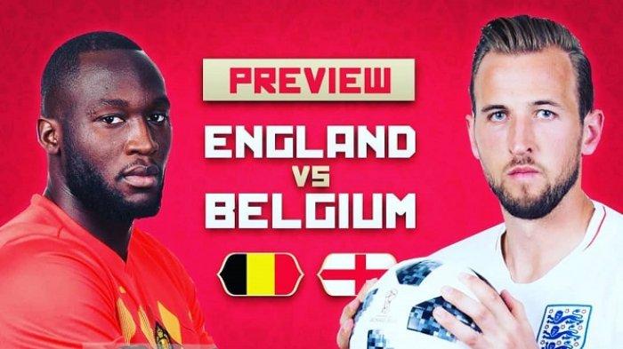 Head to Head & Prediksi Inggris vs Belgia Perebutan Peringkat Tiga Piala Dunia 2018 Live Trans TV