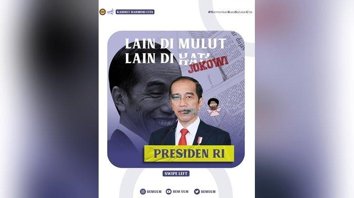 Turut Kritisi Presiden Jokowi, BEM ULM Sebut Ucapan Presiden Tak Sejalan Dengan Kebijakannya