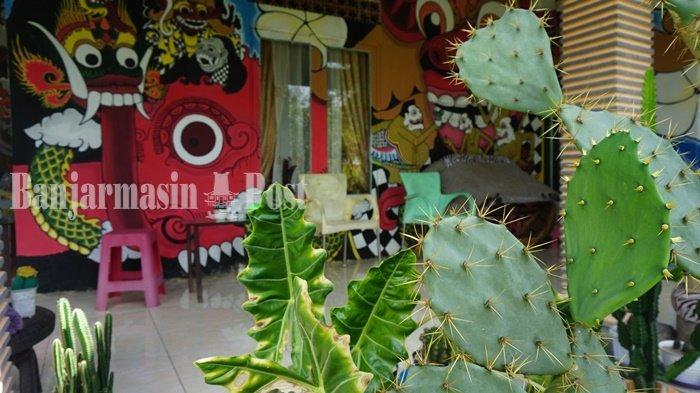 Wisata Kalsel, Di Taman Kaktus Wanaraya Batola Terdapat Lukisan Karakter Wayang
