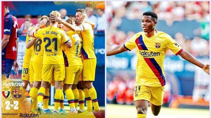 Pasca Tampil Perdana di Tim Senior Barcelona di usia 16 Tahun, Harga Ansu Pati 8 Kali Lionel Messi