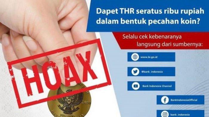Uang Pecahan Logam Rp 100 RibuViral di Medsos, Kepala Bank Indonesia Kalteng Tegaskan Hoaks
