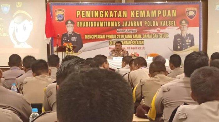 Jelang Pemilu 2019, Bhabinkamtibmas Polsek Karang Bintang Ikut Pelatihan Peningkatan Kemampuan