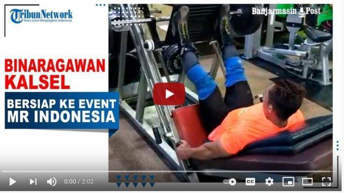 Binaragawan Kalsel, Iswahyudi tengah berlatih untuk mengadapi even Mr Indonesia 2021, Selasa (23/2/2021).
