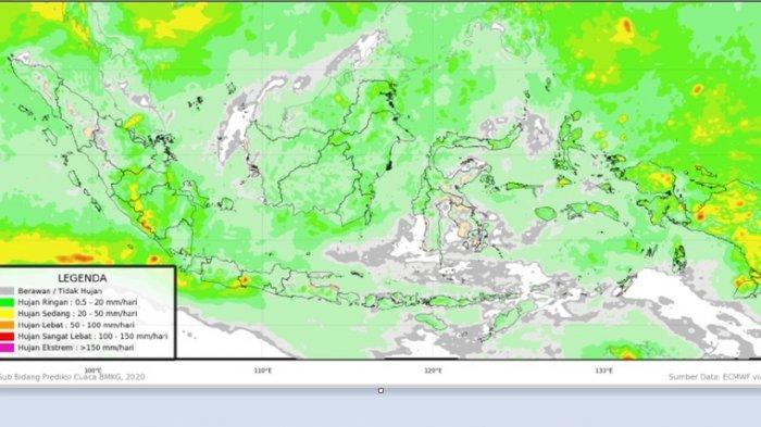 Libur Hingga Akhir Oktober, Kalimantan Waspada Potensi Hujan Lebat, Berikut Prakiraan Cuaca BMKG