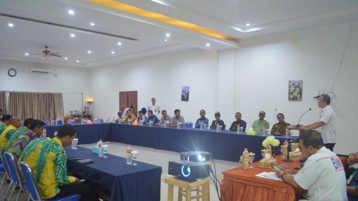 Rapat Kerja dengan Kepala Desa se-Kecamatan Lampihong, BNNK Balangan Ajak Berantas Narkoba