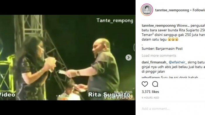 Heboh Lagi Video Saweran Bos Batubara Pada Rita Sugiarto, Capai 250 Juta??