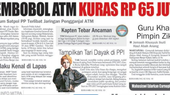 Waduh, Tak Hanya Kasus Sabu, Oknum Satpol PP Ini Juga Terlibat Sindikat Pengganjal Mesin ATM