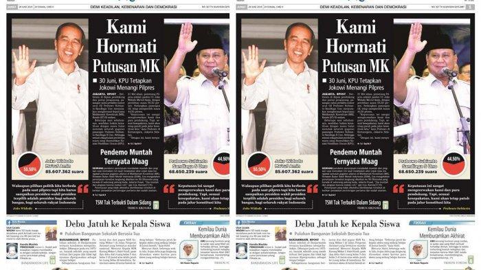 Kecewa, Sesuai Kesepakatan, Prabowo Subianto Menghormati Keputusan MK