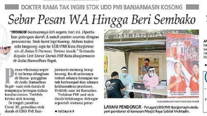 Tak Ingin Stok UDD PMI Banjarmasin Kosong, Dokter Rama Sebar Pesan WA hingga Beri Sembako
