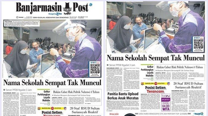 Panitia SMAN 3 Kandangan Bantu Upload Berkas PPDB Anak Meratus