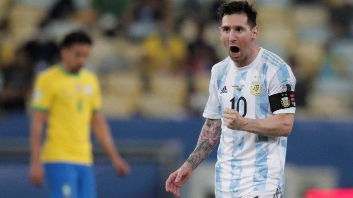 Messi cs Juara Copa America 2021! Hasil Brazil vs Argentina Skor Akhir 0-1, Angel di Maria Pahlawan