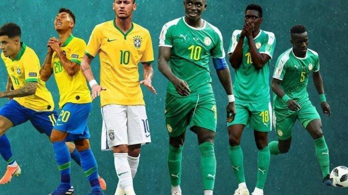 Link Live Streaming TV One Brazil vs Senegal di Brasil Global Tour 2019 Mulai Pukul 18.45 Wib