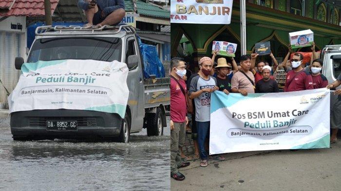 BSM Umat Salurkan Bantuan kepada Masyarakat terdampak Musibah Banjir di HST